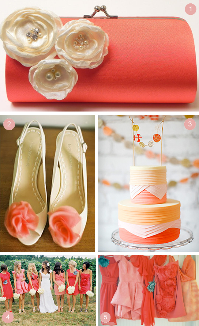 Coral Wedding Inspiration It S The Colour For Everyone