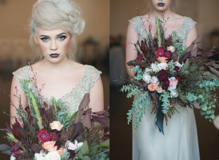 The Dark Romantic Elegant Gothic Bridal Style The Bride