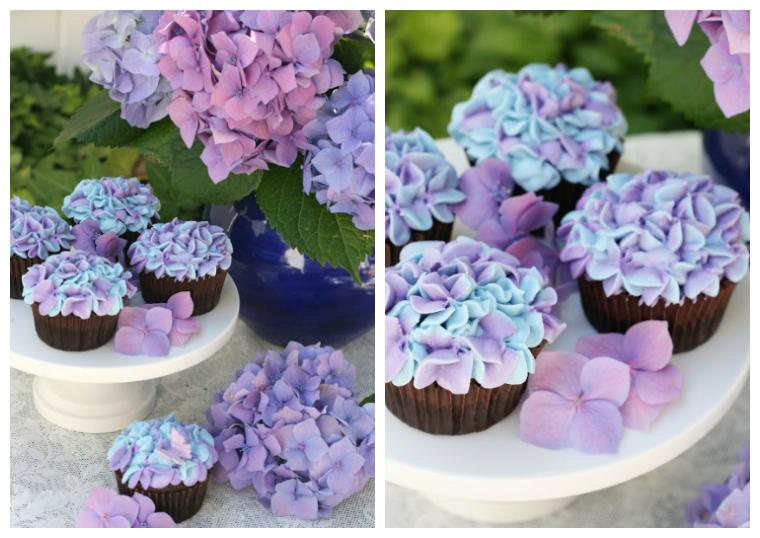 Hydrangea cupcakes _ wedding dessert