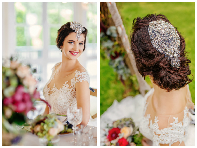 Autumn wedding hair and makeup