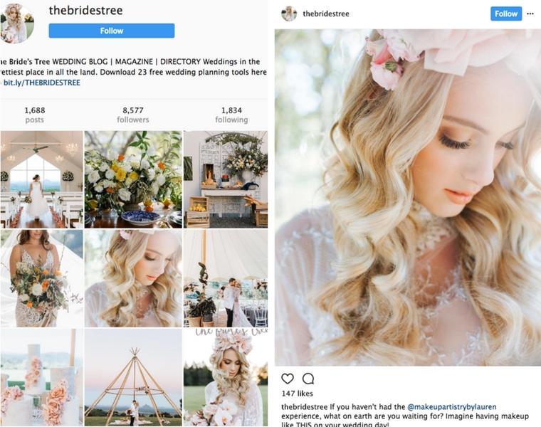 Sunshine Coast Wedding instagram account _ The Bride's Tree