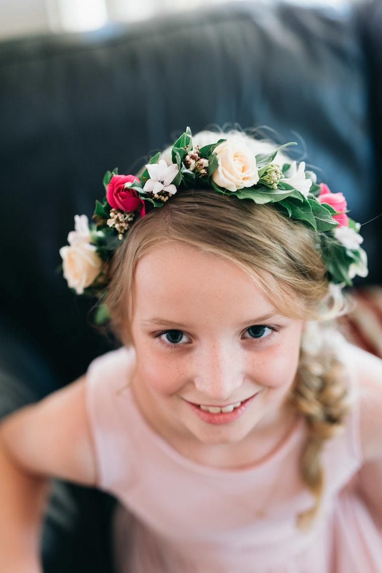 Flower crown _ Garden wedding Sunshine Coast _ Willow Bud