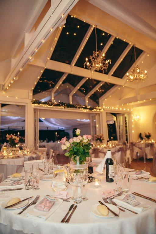 High Ceilings With A Glass Skylight Mean You Can Have Your Indoor Wedding Reception Under The Stars