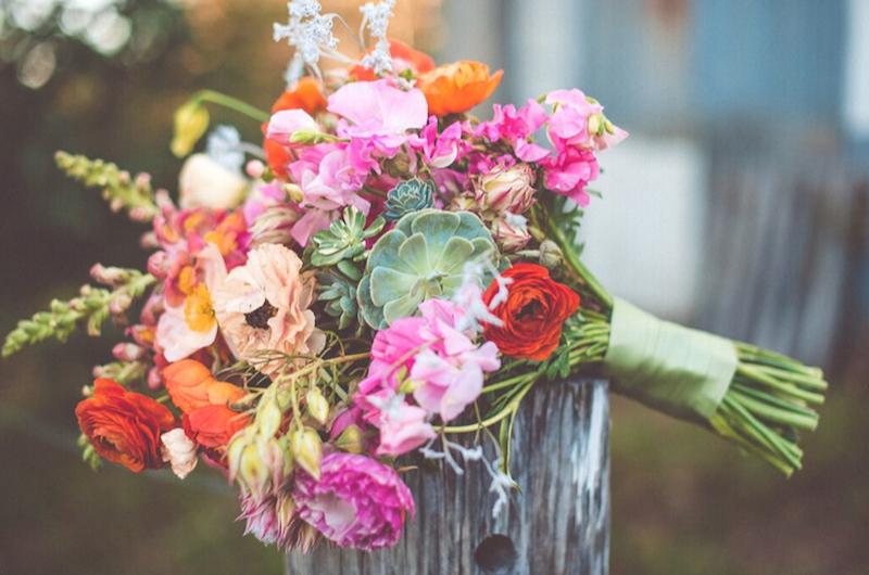 pink wedding flowers _ Woods & Bloom _ The Bride's Tree