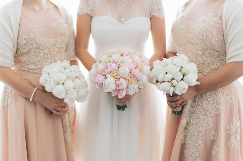 pink wedding flowers _ weddings at tiffany's_ The Bride's Tree