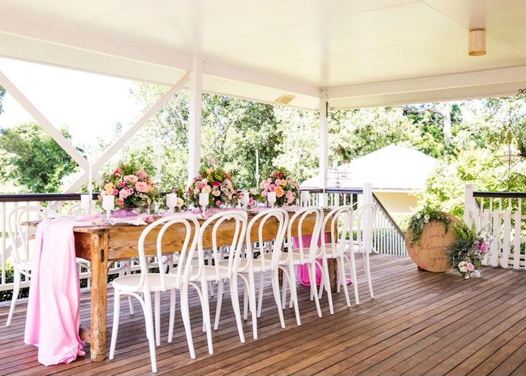 Sunshine Coast hinterland wedding _ pink wedding style _ Jennifer Oliphant Photographer_1