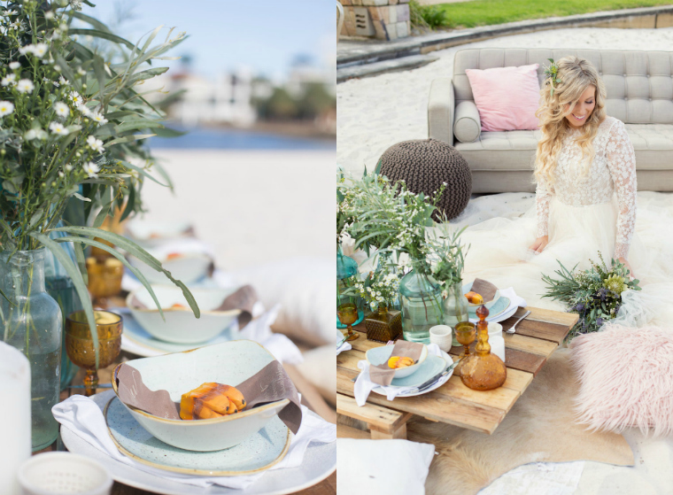 Boho Luxe Beach Wedding _ The Bride's Tree_