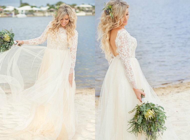 Boho Luxe Beach Wedding _ The Bride's Tree_3
