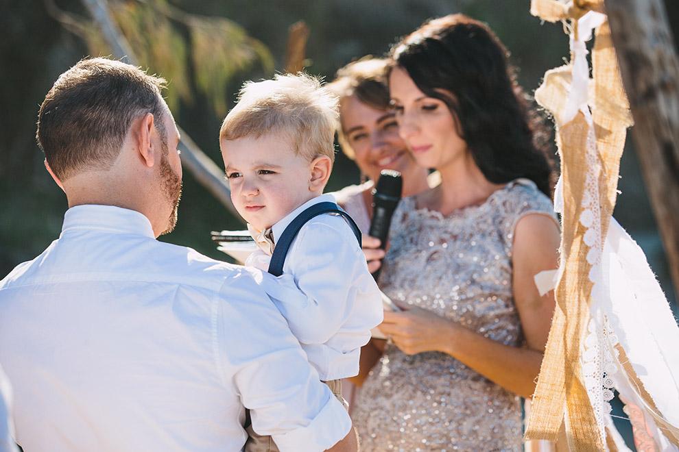 Intimate beach wedding _ Alexandra Headlands wedding
