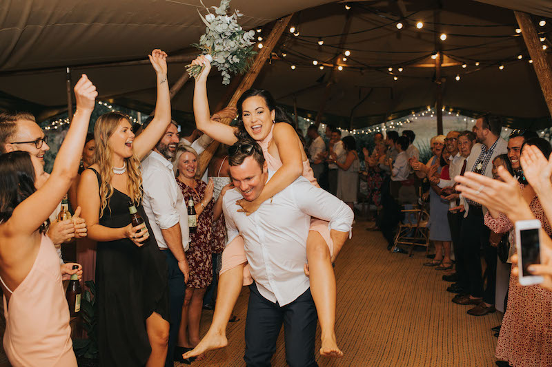 Caitlin and Jesse Yandina Wedding _ Tipi wedding
