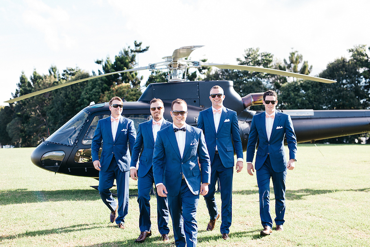 Helicopter flight groom gift