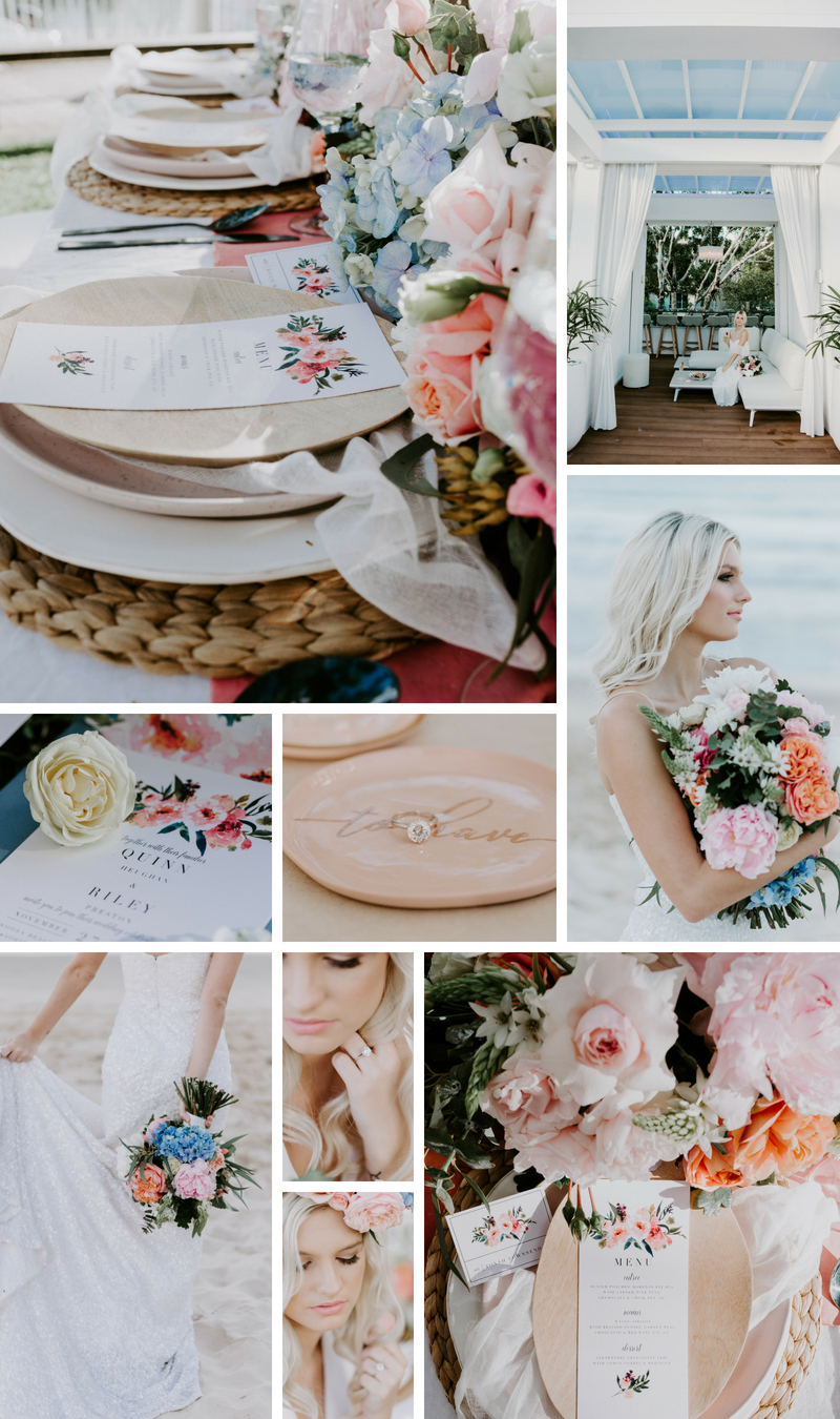 Spring wedding colour palette _ Summer wedding colour palette _ Beach wedding colour palette _ The Bride's Tree magazine
