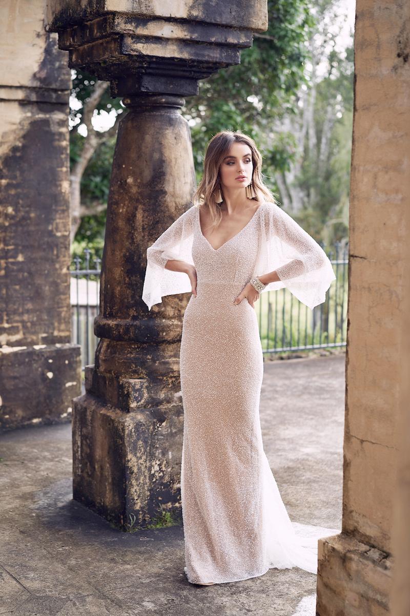 Wanda Dress (Draped Sleeve)-3