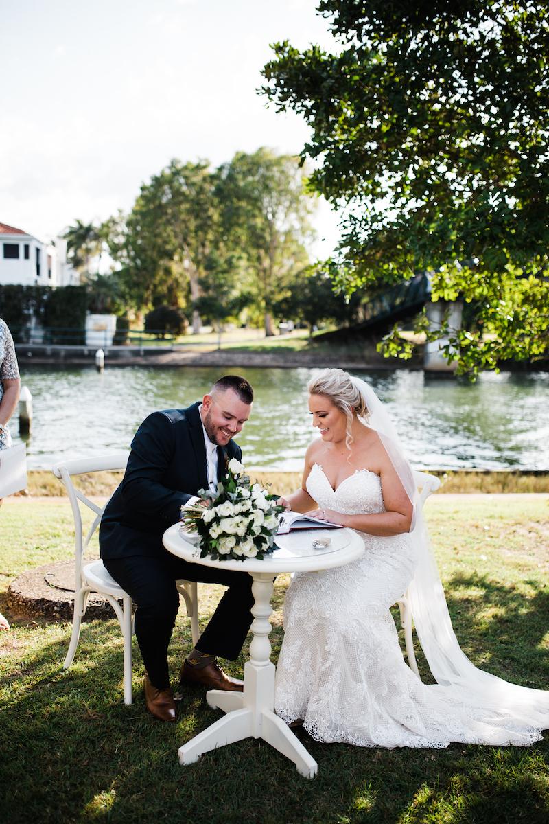 Noosa River ceremony _ Noosa Waterfront wedding ceremony _ The Bride's Tree