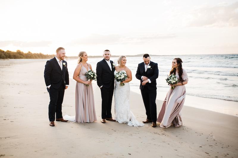 Noosa main beach wedding photos