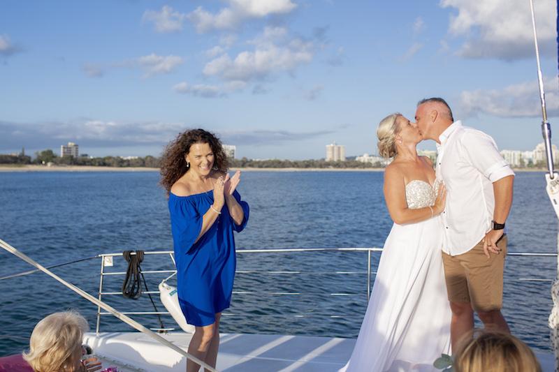 Suzanne Riley marriage Celebrant sunshine Coast wedding onboard setsail cruise mooloolaba