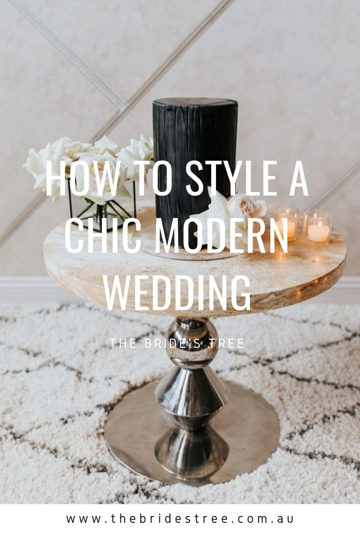 how to style a chic modern wedding