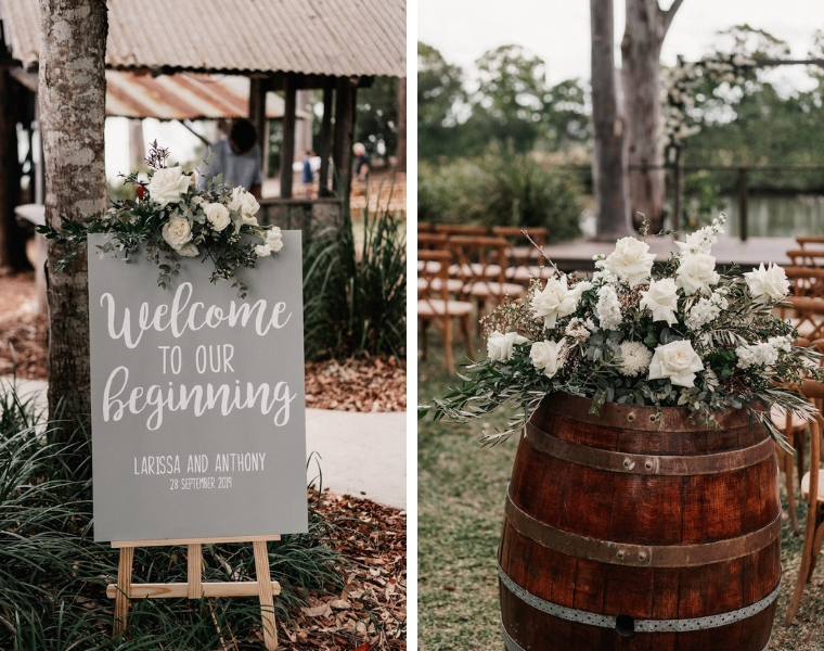 wedding welcome sign _ wedding ceremony