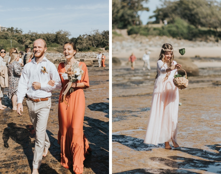 Point Cartwright Wedding on the beach