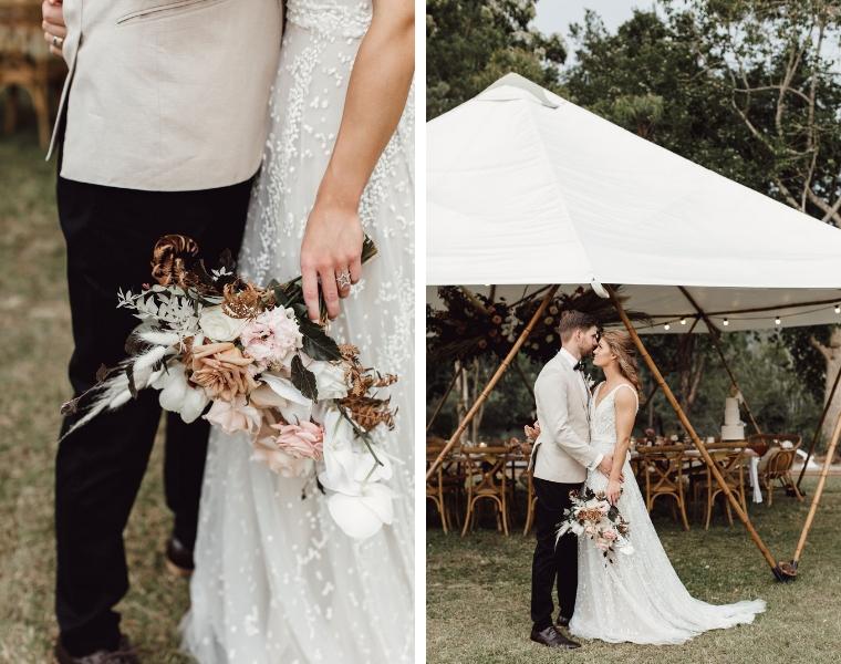 boho wedding bohemian bouquet