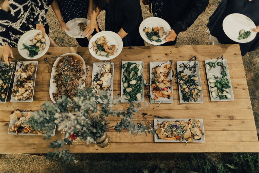 Family Farm Wedding catering _ private wedding catering Sunshine Coast