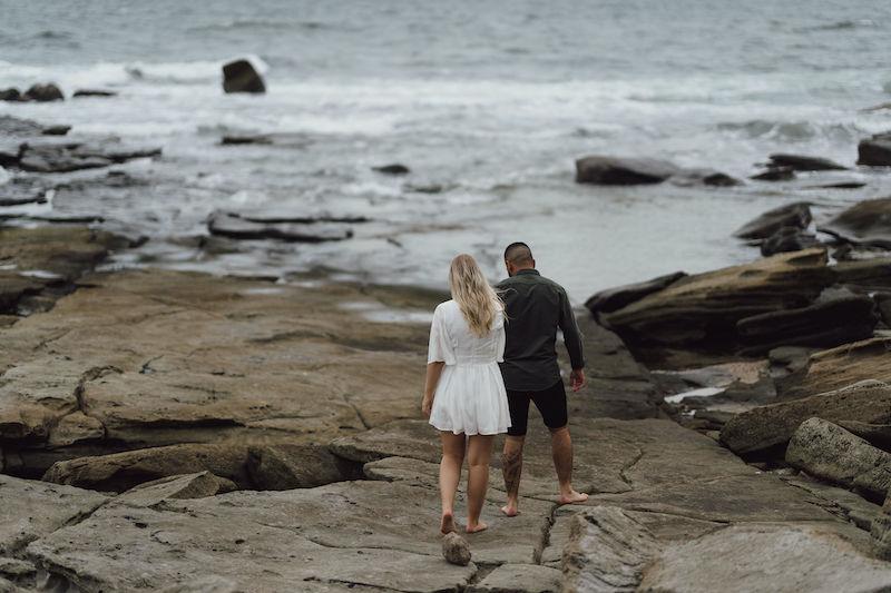 Beach engagement shoot sunshine coast _ Emma Nayler Photographer _ sunshine coast engagement shoot