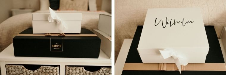 Bride and groom gift box