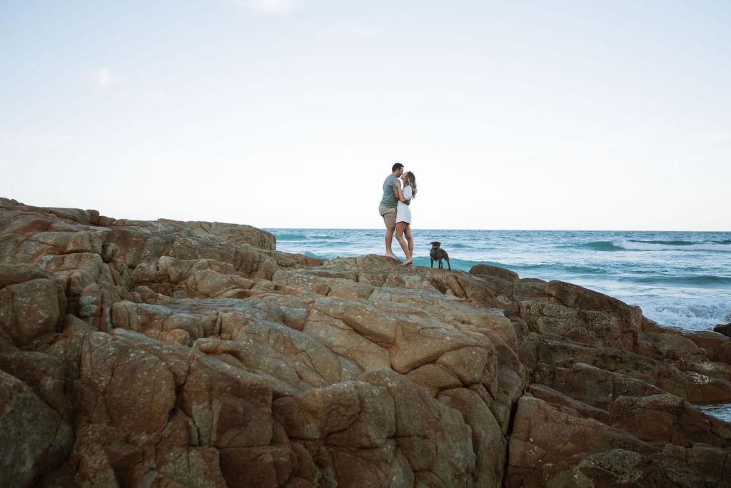 Beach engagement shoot _ Terri Hanlon _ The Bride's Tree _ Sunshine Coast photographer