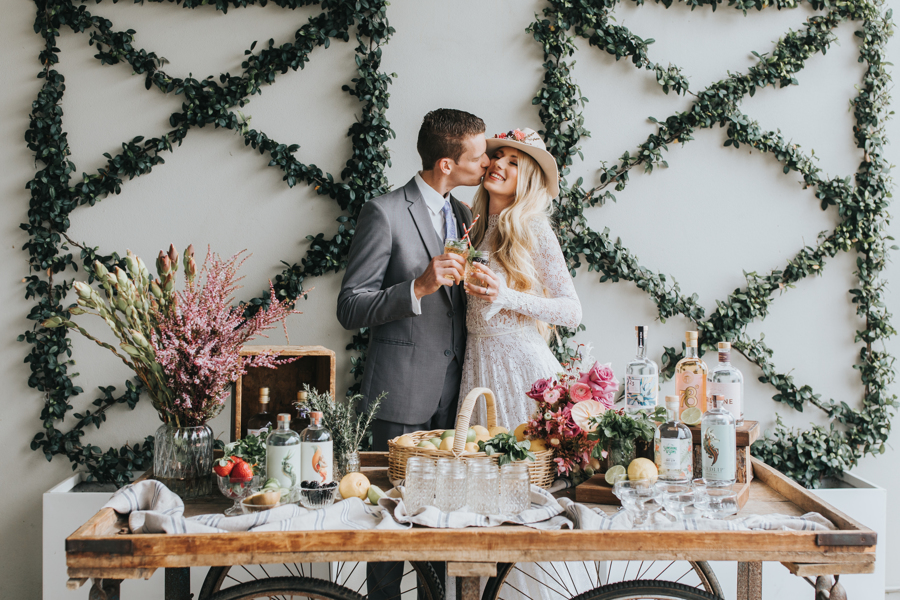 Wedding Gin Bar Sunshine Coast _ FREE bridal magazine